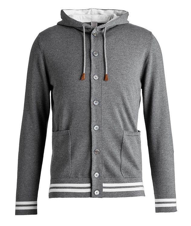 Hooded Wool Cardigan picture 1