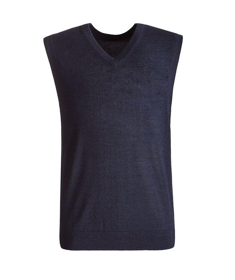 Merino Wool V-Neck Vest image 0