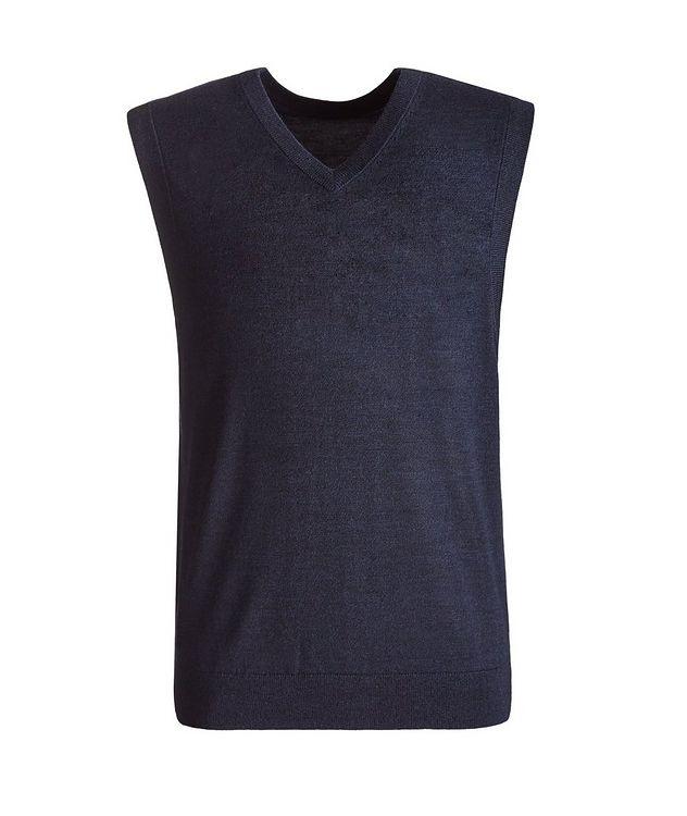 Merino Wool V-Neck Vest picture 1