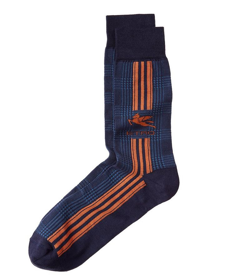 Prince Of Wales Jacquard Socks image 0