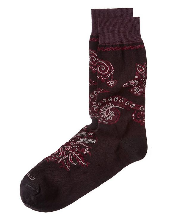 Paisley Jacquard Socks picture 1