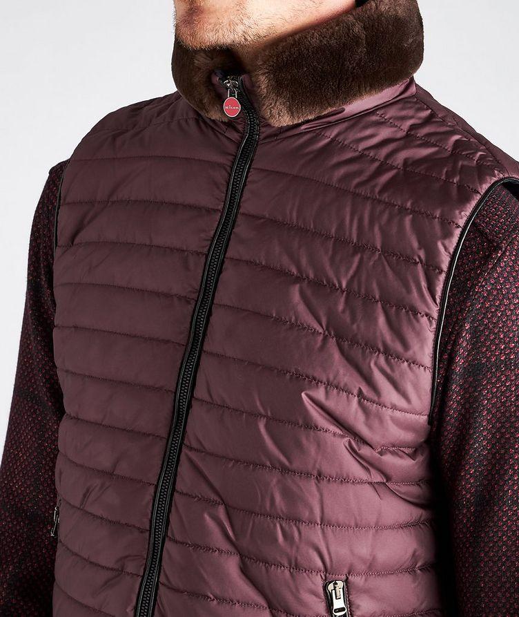 Beaver Fur-Trim Quilted Vest image 3