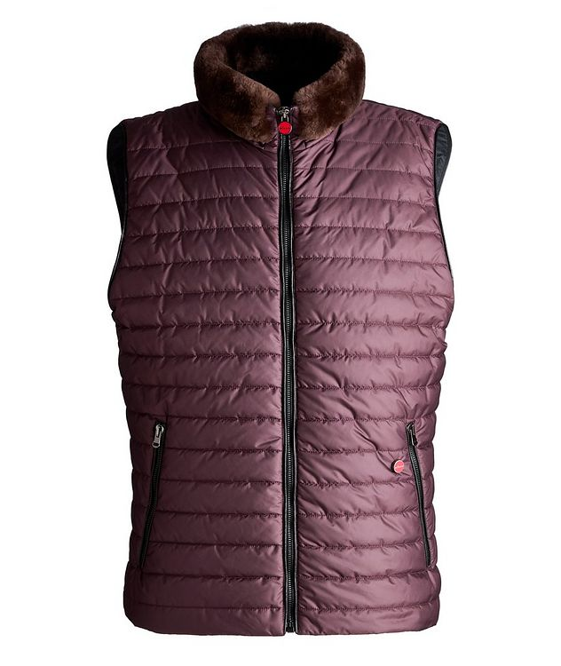 Beaver Fur-Trim Quilted Vest picture 1