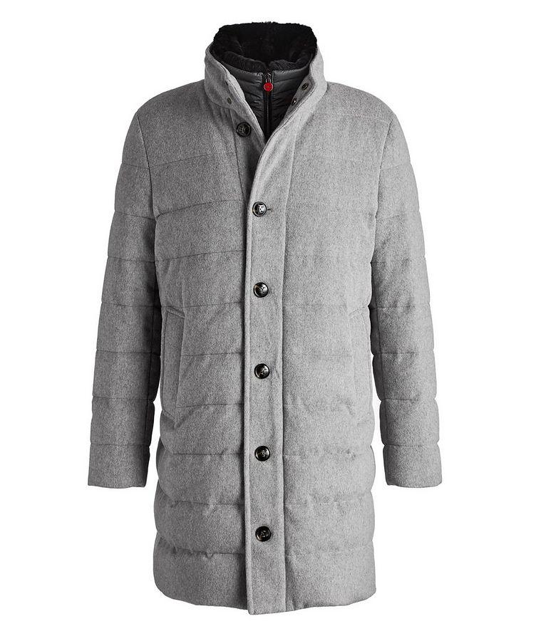 Fur-Trimmed Wool-Mohair Parka image 0