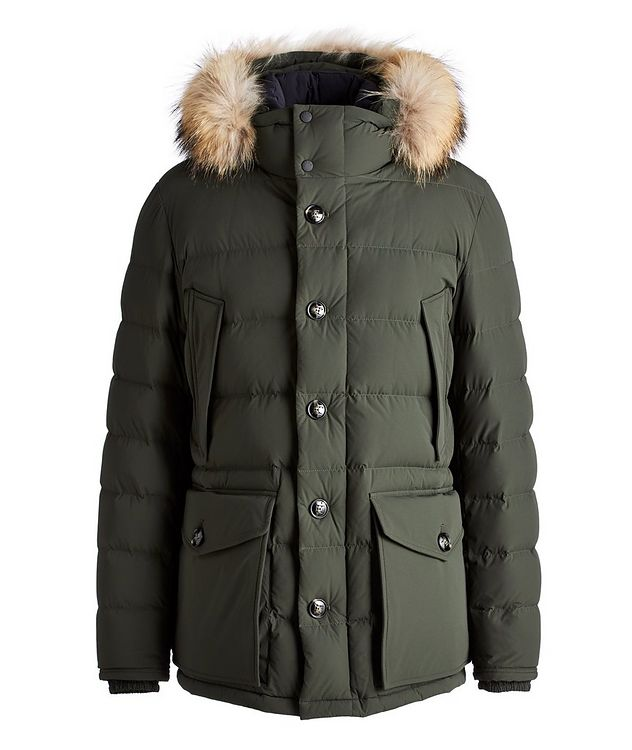 Fur Hooded Down Parka picture 1