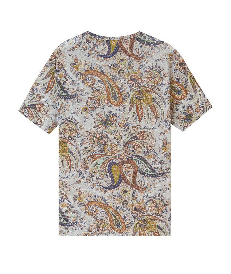 Paisley Printed Cotton T-Shirt image 1
