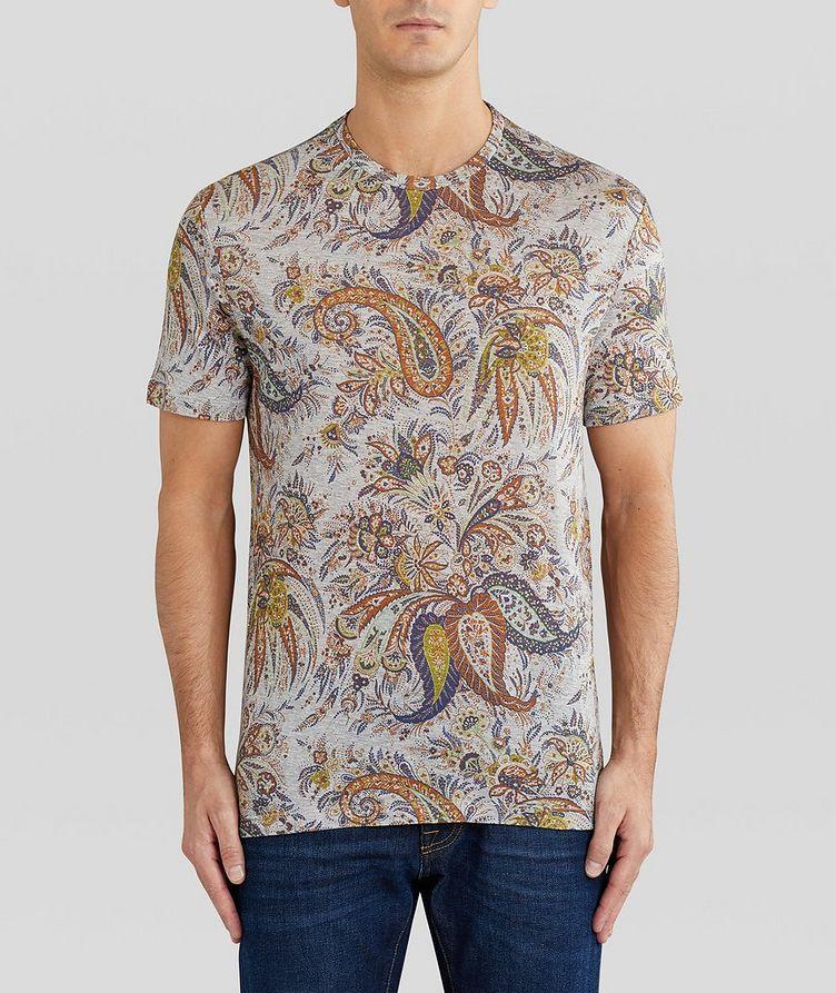 Paisley Printed Cotton T-Shirt image 2