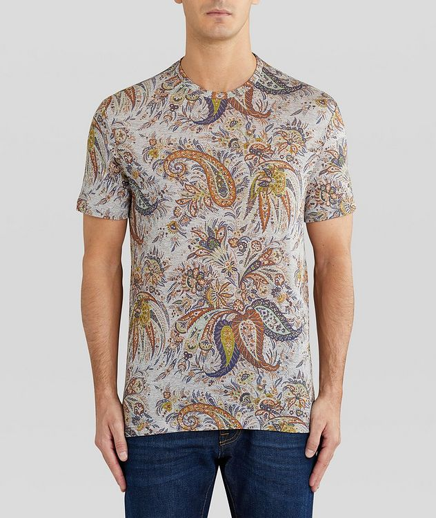 Paisley Printed Cotton T-Shirt picture 3