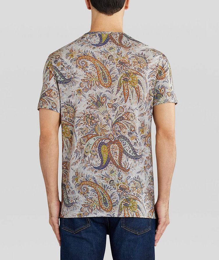 Paisley Printed Cotton T-Shirt image 3