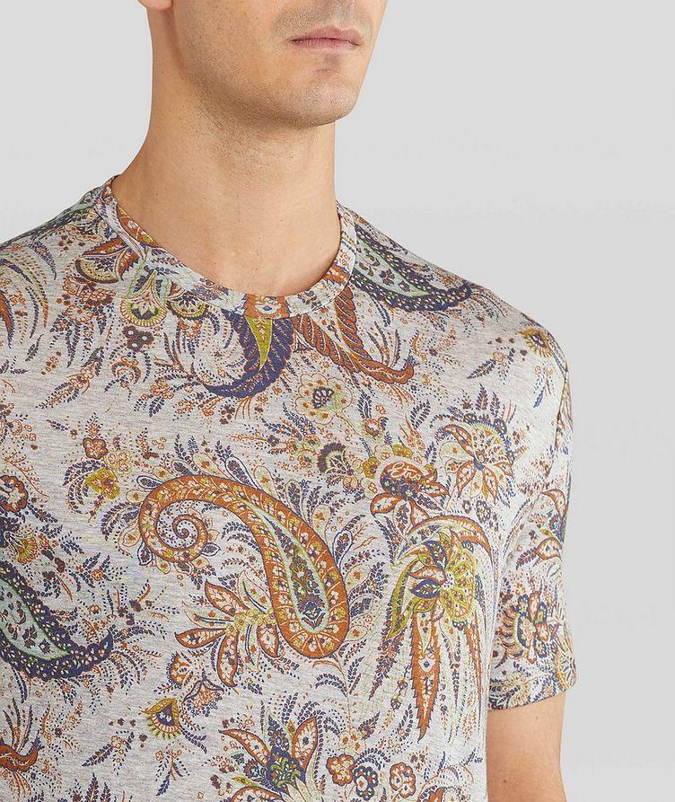 Paisley Printed Cotton T-Shirt image 4