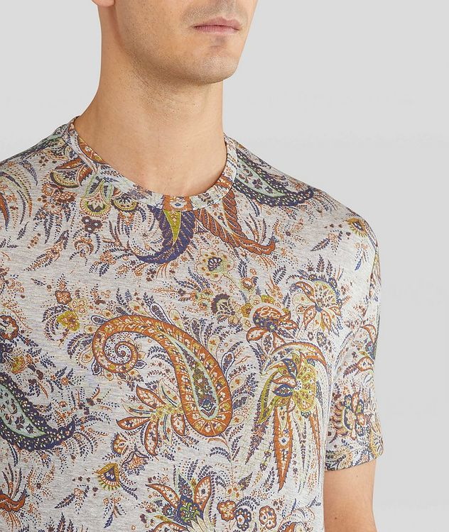 Paisley Printed Cotton T-Shirt picture 5