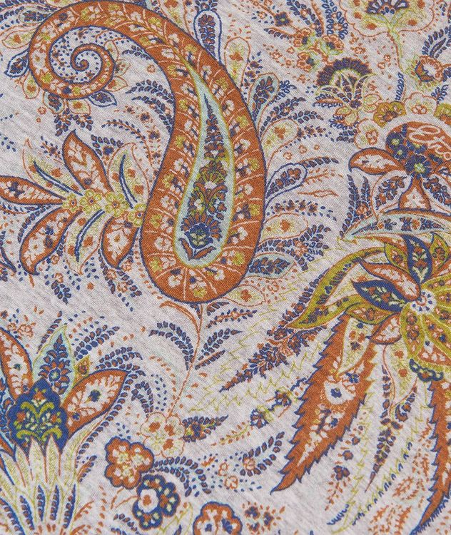 Paisley Printed Cotton T-Shirt picture 6