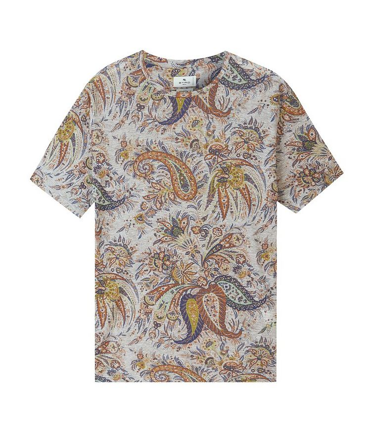 Paisley Printed Cotton T-Shirt image 0