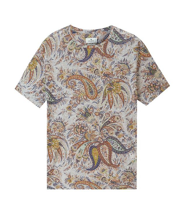 Paisley Printed Cotton T-Shirt picture 1