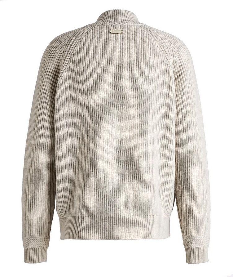 Zip-Up Cashmere Knit Cardigan image 1