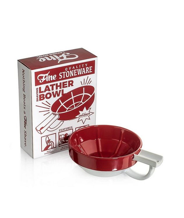 Fine Accoutrements Lather Bowl - Red/White picture 1