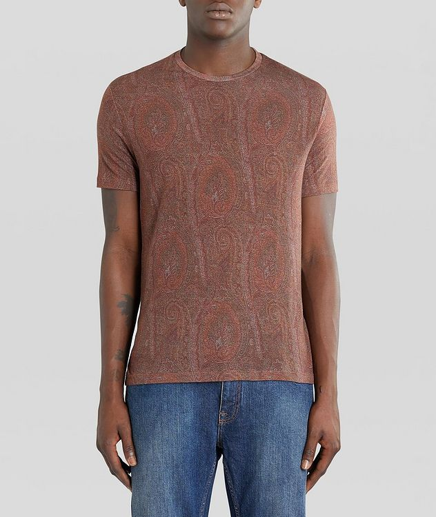 Paisley Printed Lyocell T-Shirt picture 2