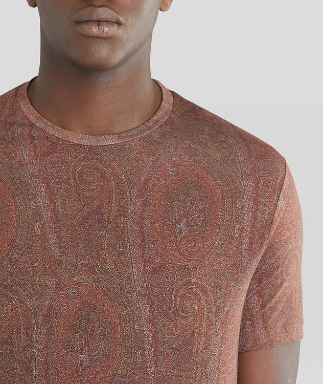 Paisley Printed Lyocell T-Shirt picture 4