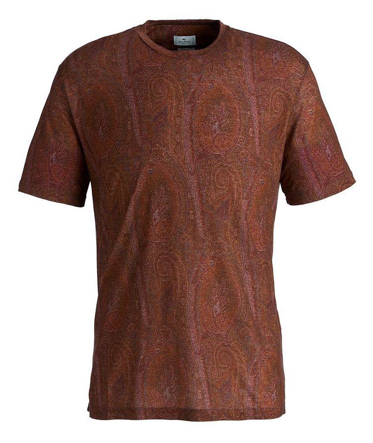 Paisley Printed Lyocell T-Shirt image 0