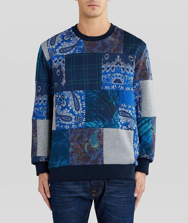 Paisley Patchwork Cotton-Blend Sweatshirt picture 2