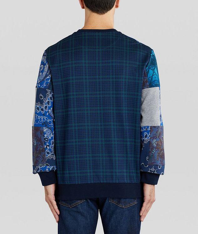 Paisley Patchwork Cotton-Blend Sweatshirt picture 3