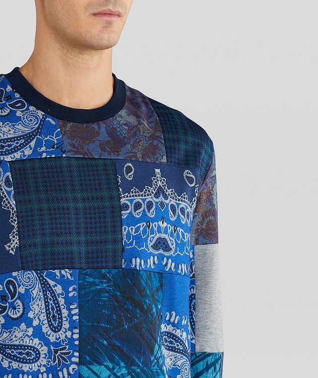 Paisley Patchwork Cotton-Blend Sweatshirt picture 4