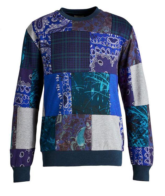 Paisley Patchwork Cotton-Blend Sweatshirt picture 1