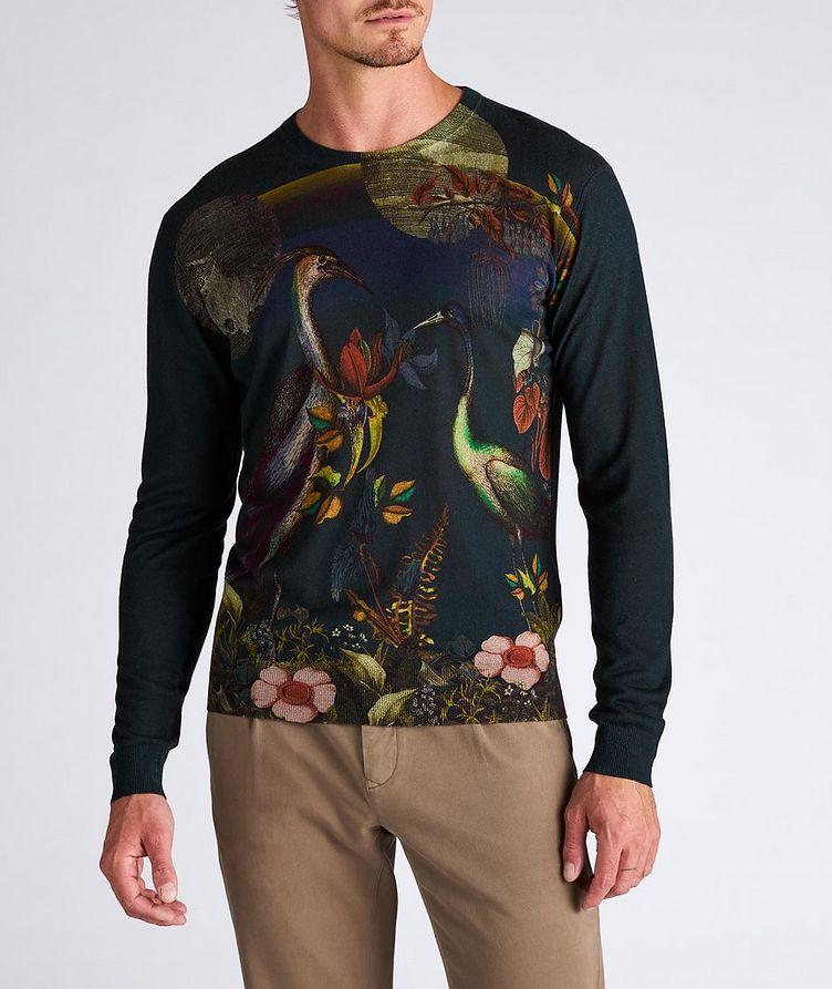Printed Silk-Cashmere Sweater image 1