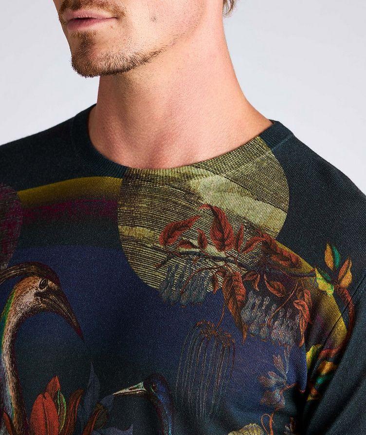 Printed Silk-Cashmere Sweater image 3