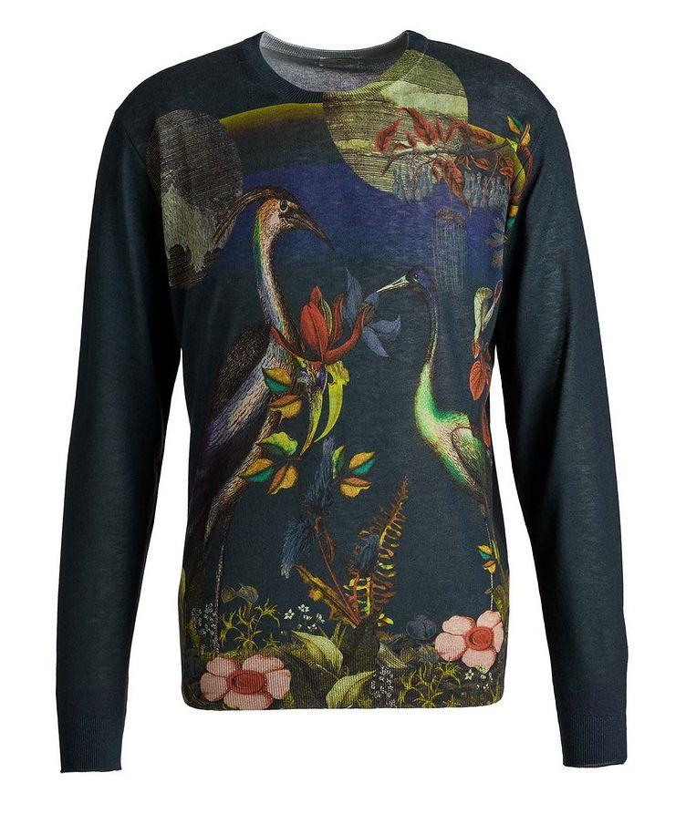 Printed Silk-Cashmere Sweater image 0