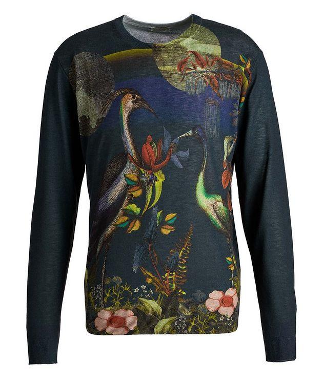 Printed Silk-Cashmere Sweater picture 1