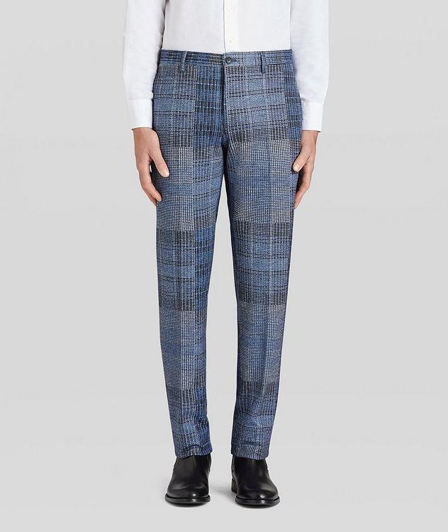 Patchwork Wool-Blend Dress Pants picture 3