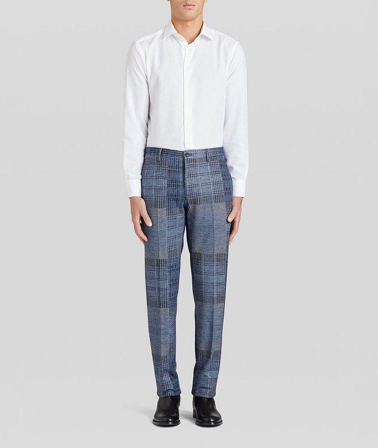 Patchwork Wool-Blend Dress Pants image 4