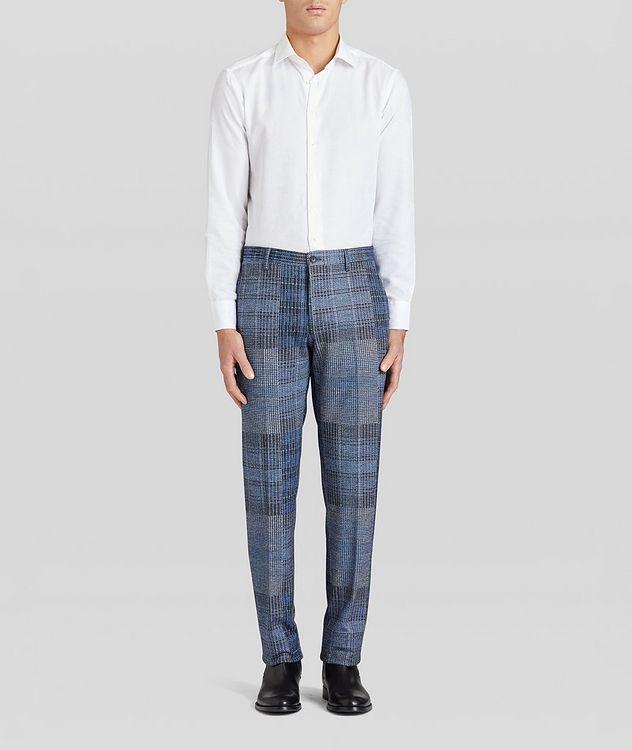 Patchwork Wool-Blend Dress Pants picture 5