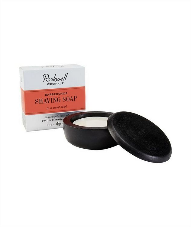 Rockwell Shave Soap in a wooden Bowl - Barbershop Scent picture 1