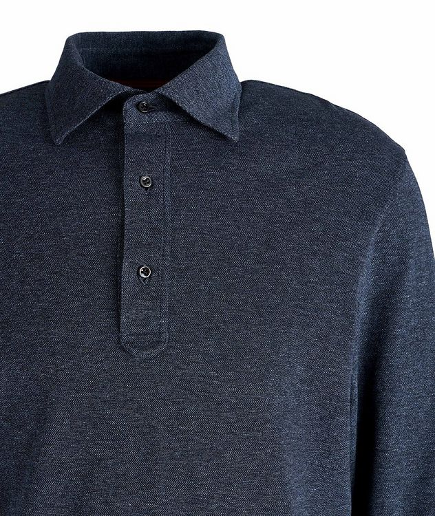 Long-Sleeve Cotton Polo picture 2