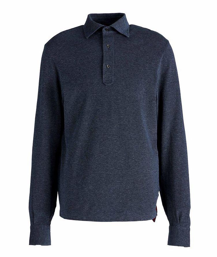 Long-Sleeve Cotton Polo image 0
