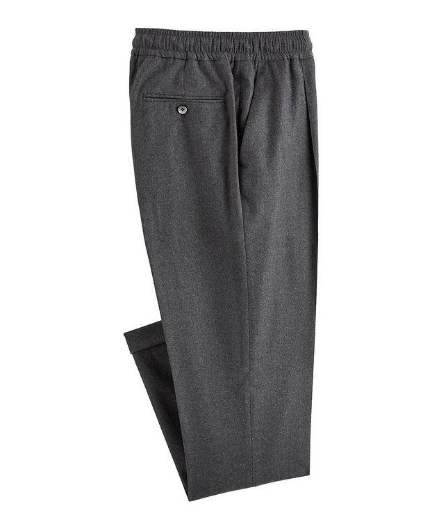 Drawstring Wool-Blend Pants picture 1