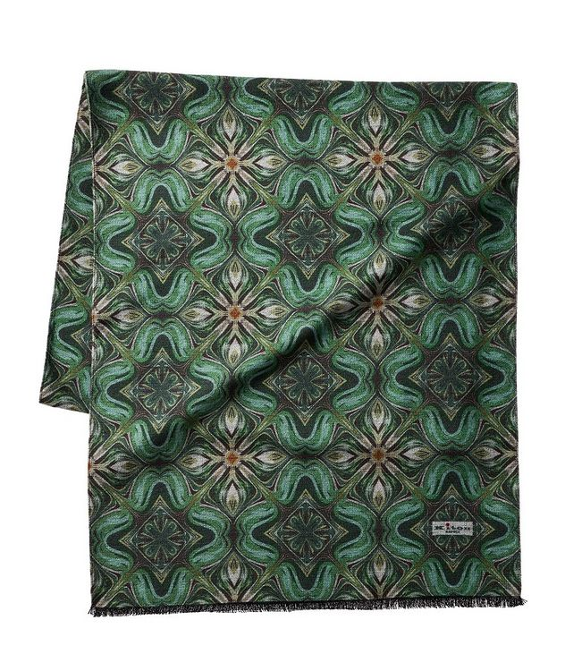Printed Silk Scarf picture 1