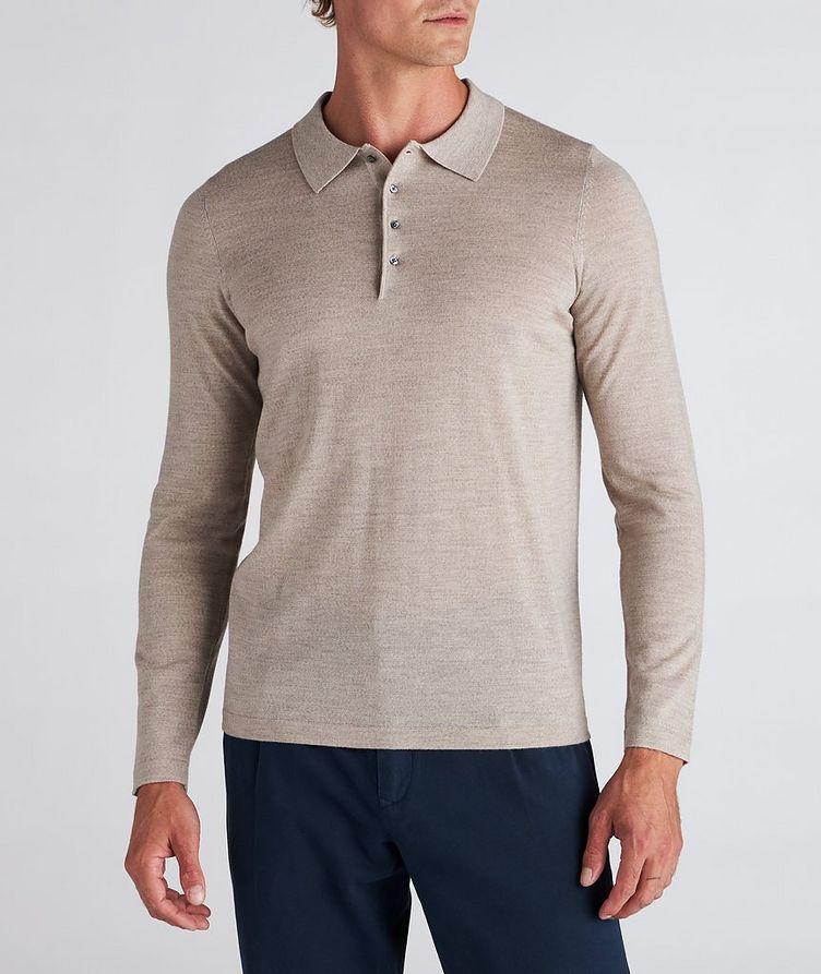 Long-Sleeve Merino Wool Polo image 1