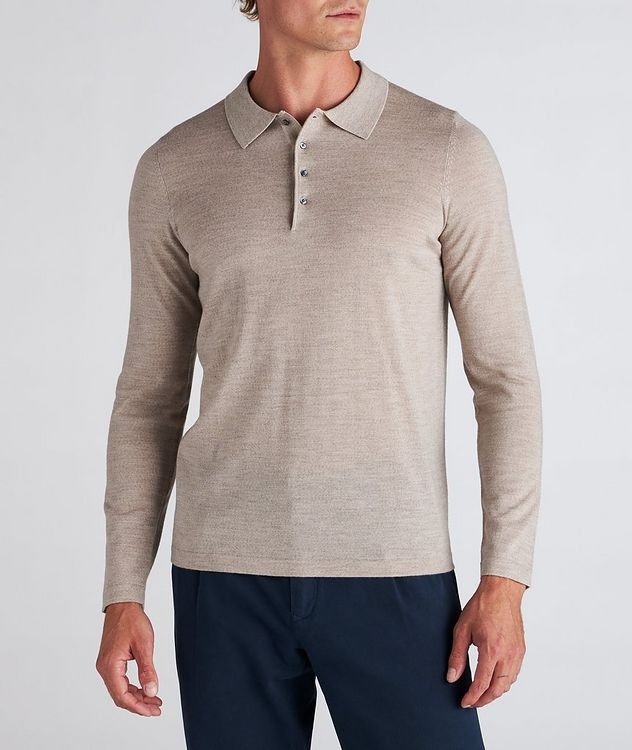 Long-Sleeve Merino Wool Polo picture 2