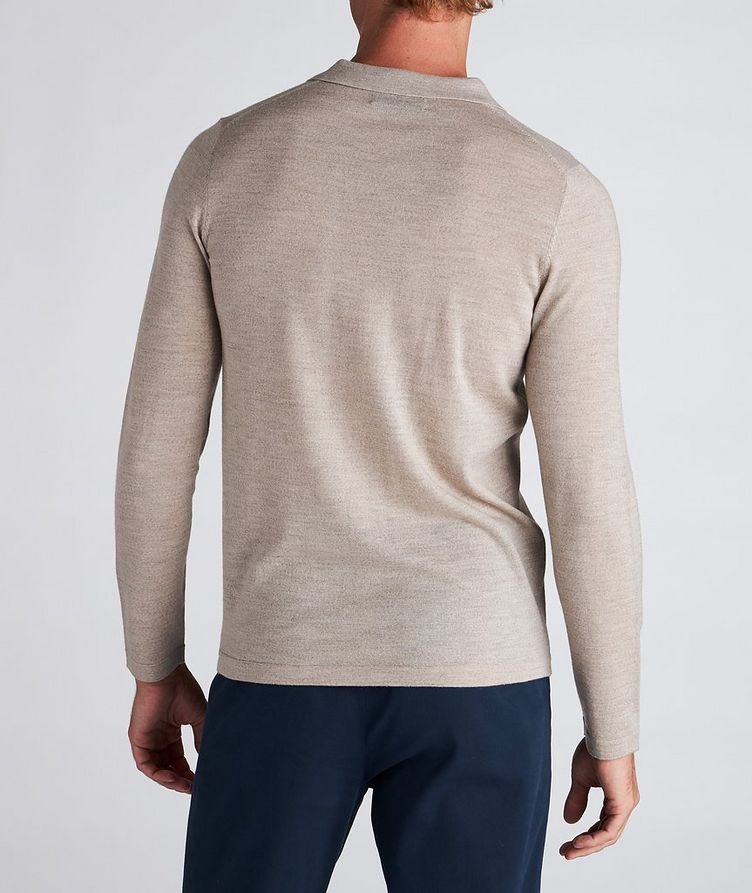 Long-Sleeve Merino Wool Polo image 2