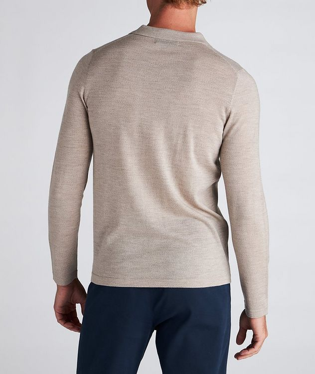Long-Sleeve Merino Wool Polo picture 3