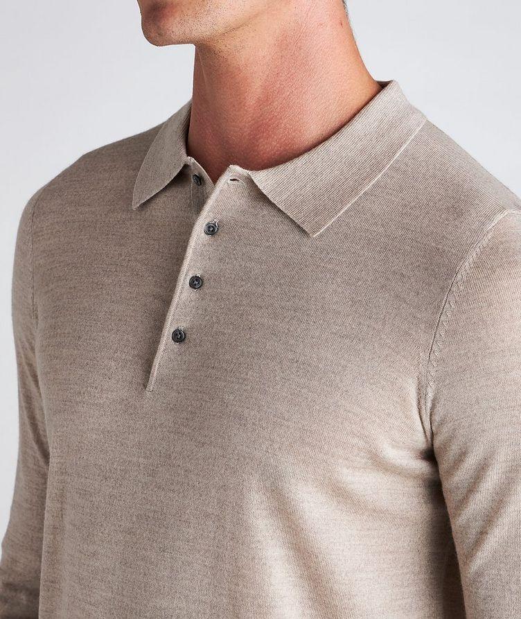 Long-Sleeve Merino Wool Polo image 3