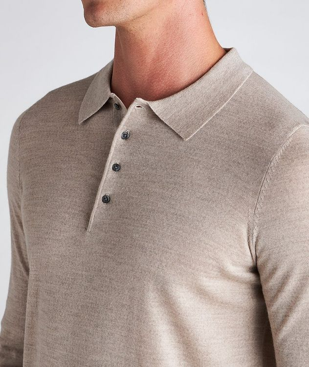 Long-Sleeve Merino Wool Polo picture 4
