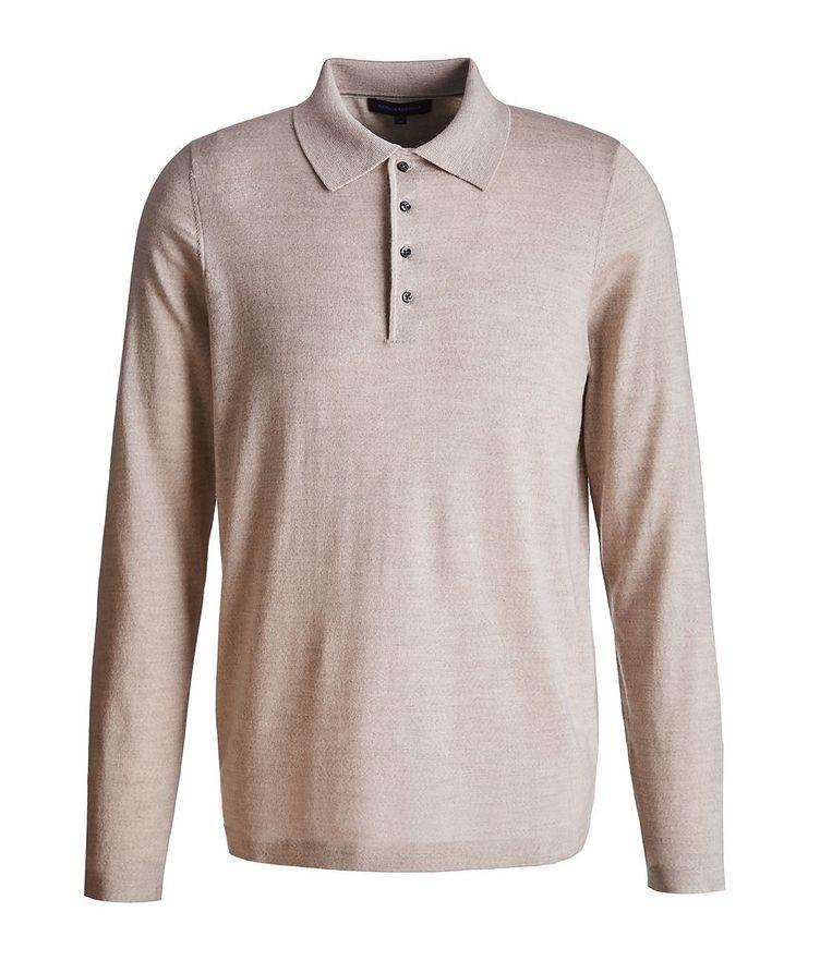 Long-Sleeve Merino Wool Polo image 0