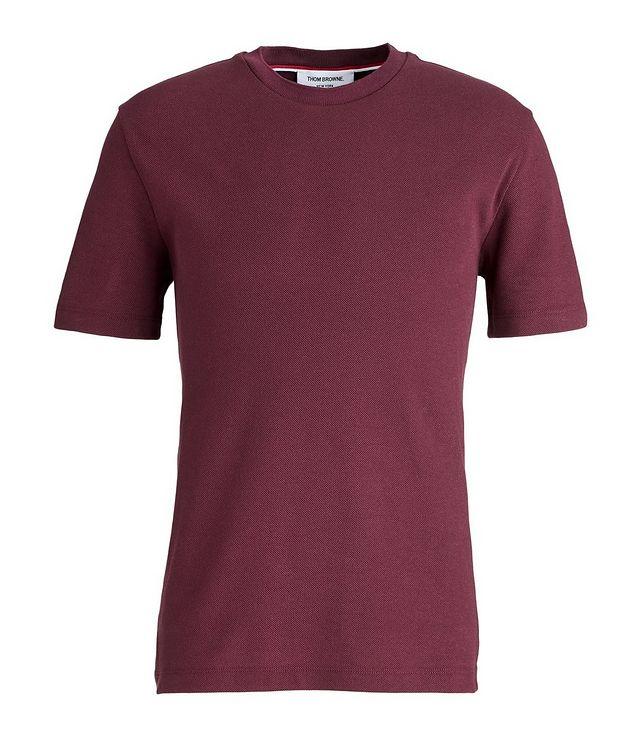 T-shirt en coton piqué à quatre bandes picture 1