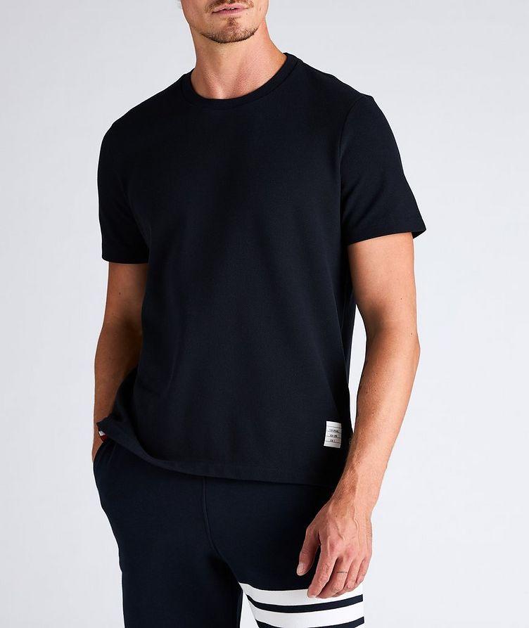 Back Stripe Cotton Pique T-Shirt image 1