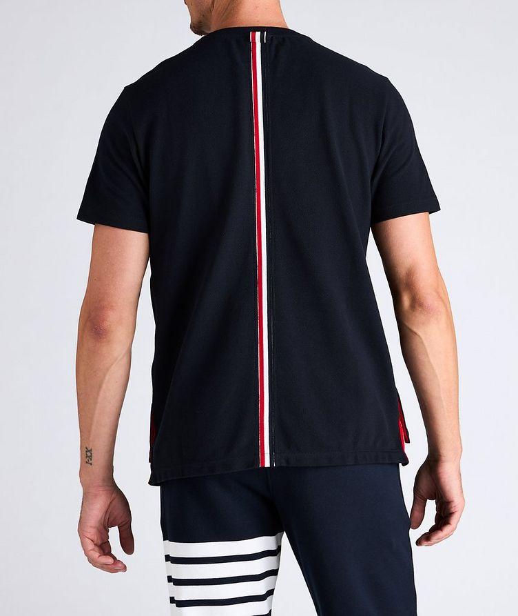 Back Stripe Cotton Pique T-Shirt image 2
