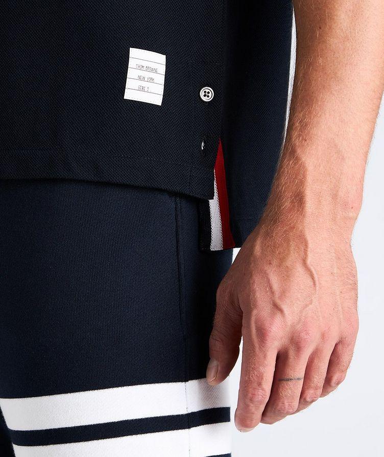 Back Stripe Cotton Pique T-Shirt image 3